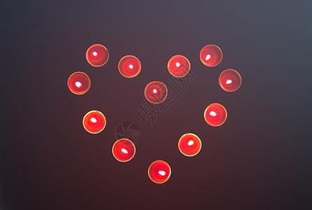 情人节爱心许愿蜡烛图片