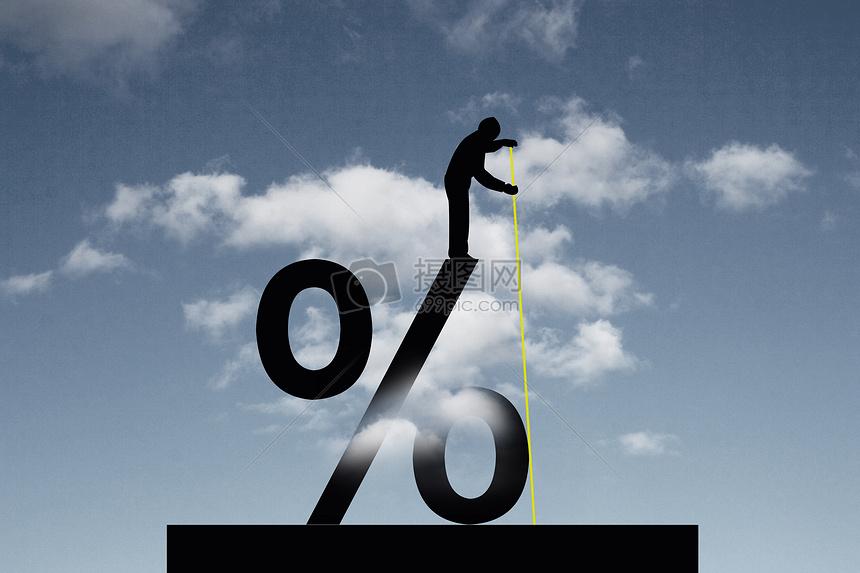 商人测量百分比符号图片