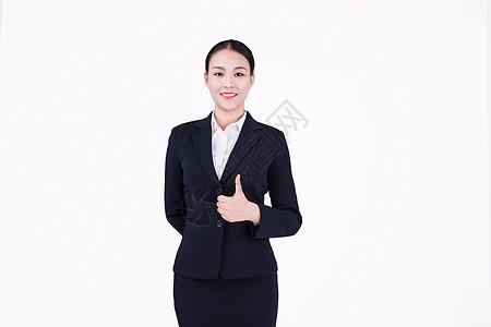 竖起大拇指的美女客服形象图片