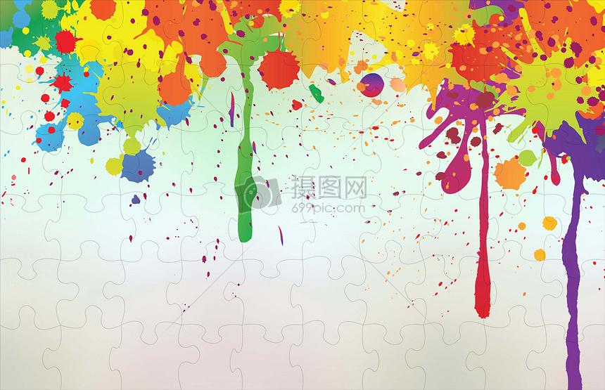 彩色油漆拼图图片