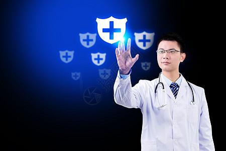 点击安全标示医生图片