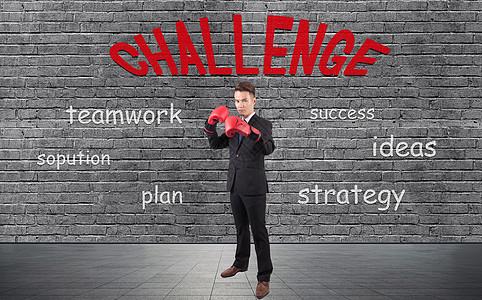 成功需要挑战图片