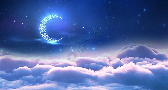 云海上的月亮图片