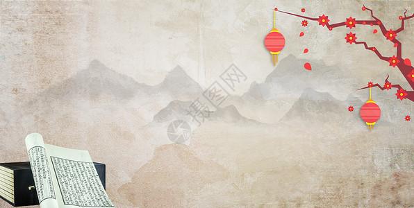 中国风赏梅图图片
