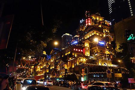 夜色下的商业街图片