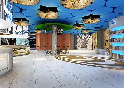 某现代大厅装饰效果图图片