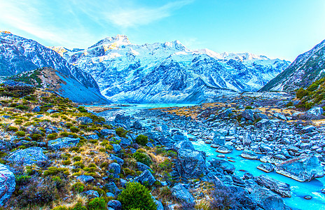 新西兰库克山图片