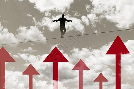 商务人士挑战困难图片