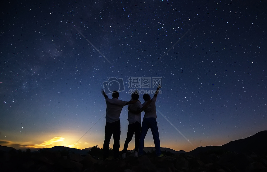 星空 背影摄影图片免费下载_自然/风景图库大全_编号