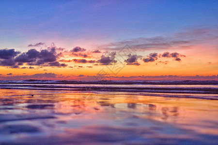 海边日落景色图片