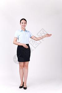 商务职业女性介绍欢迎展示动作图片
