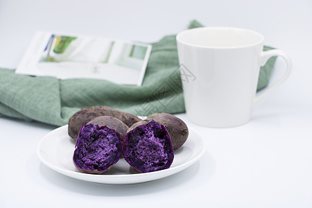 营养健康紫薯早餐图片