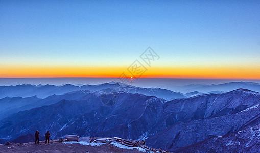 五台山日出图片