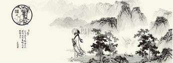 中国风山水图图片