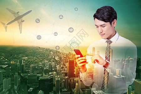 互联网商务科技背景图片