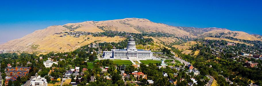 盐湖城山城全景图片