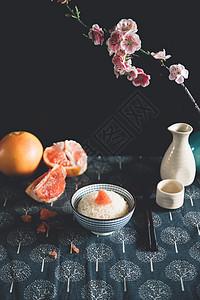 一碗米饭中国风图片