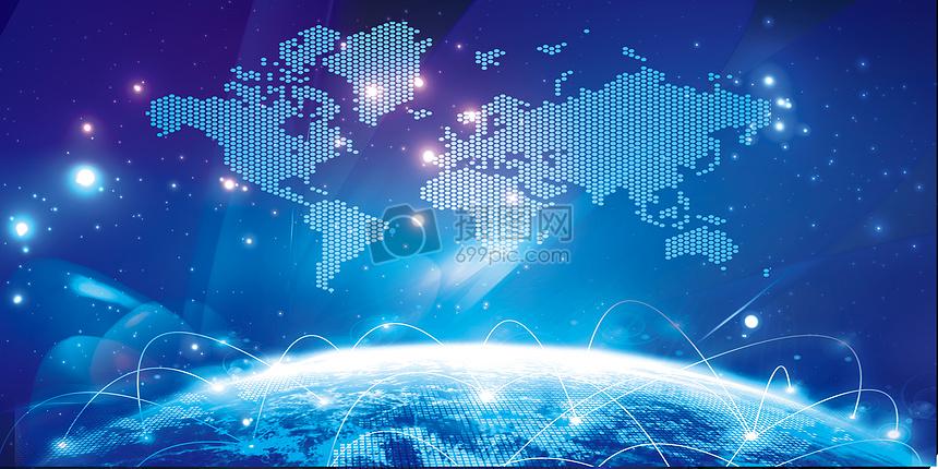 科技炫酷地球背景图片