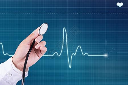 做心电图的医生图片
