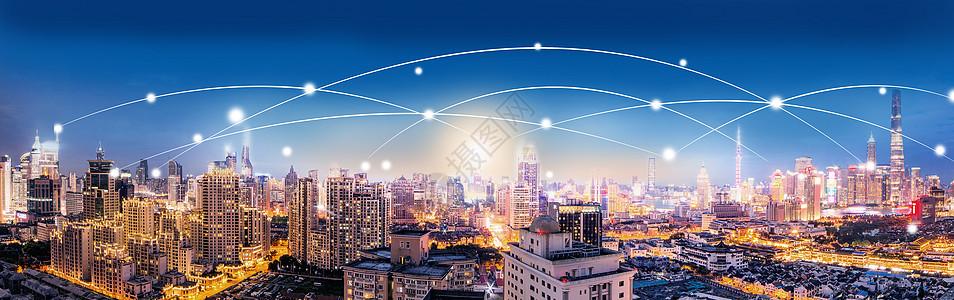 城市夜景科技图片