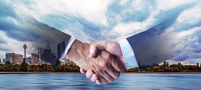 团结握手图片
