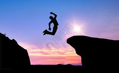 成功人士奔向顶峰图片