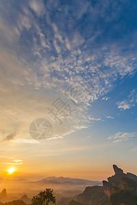 丹霞山日落美景图片
