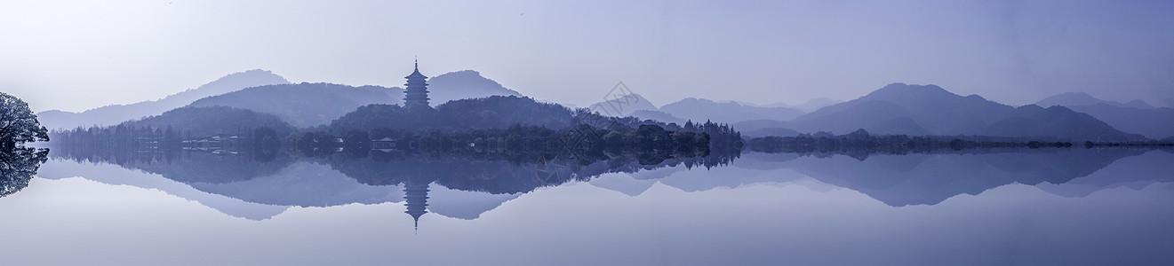 西湖雷峰塔图片