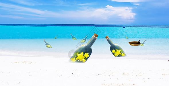 沙滩背景banner图片