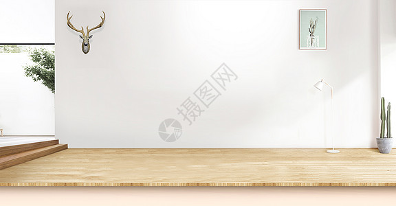 室内场空间感夏天海报背景素材图片