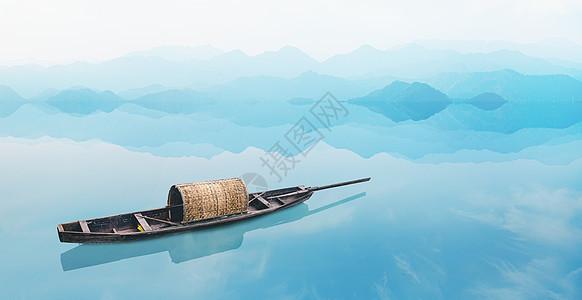 清新小船图片
