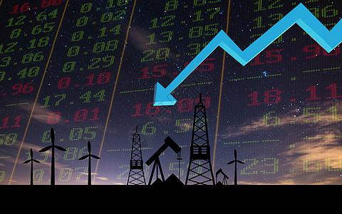 石油价格下跌图图片