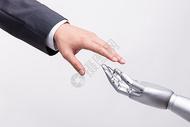 人类之手与智能科技接触图片