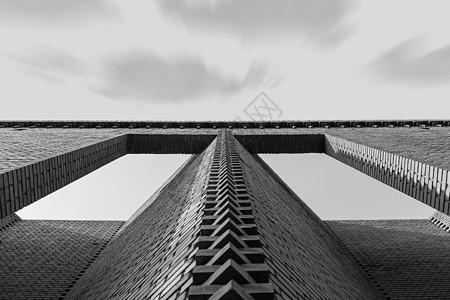 黑白创意建筑线条艺术图片