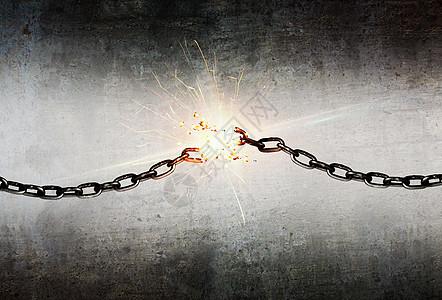 断开铁链素材背景图图片