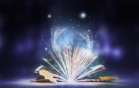 梦幻科幻书本烟雾背景图片