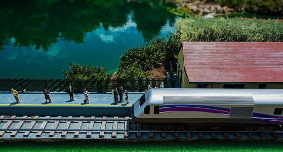 火车实地模型图片