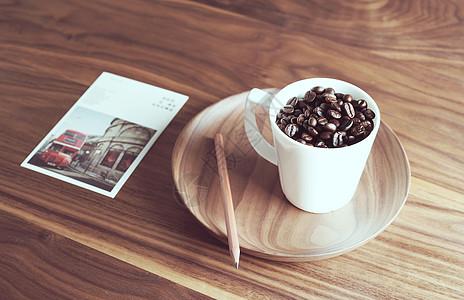 午后咖啡豆图片