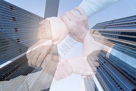 科技感金融经济商务科技合作素材海报背景图片