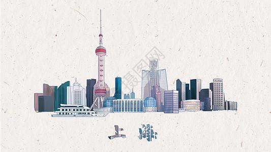 绚丽水墨上海图片