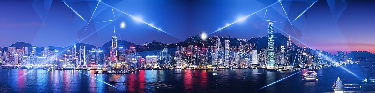 城市科技背景banner图片
