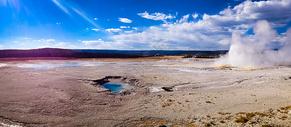 美国黄石公园的景色图片