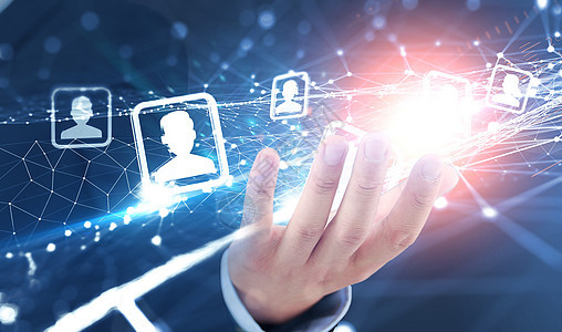 社会连接线联系的人图片