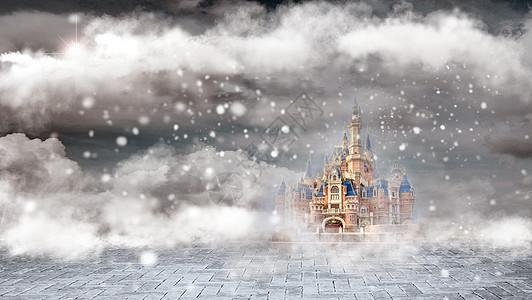 魔幻城堡背景图片