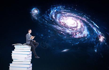 读书想象图片