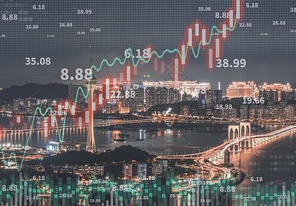 城市金融涨势图片