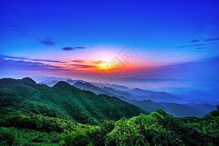 高山日出图片