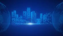 科技城市背景素材图片