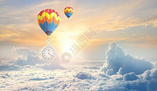 金融经济商务科技蓝天白云素材海报背景图片