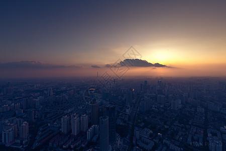 天津日落城市风光美景图片